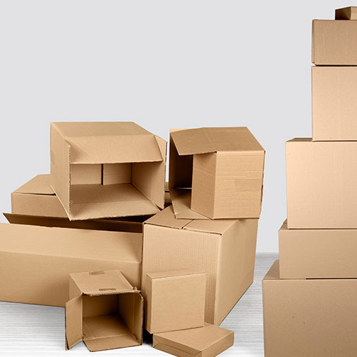 Boxes and cardboard
